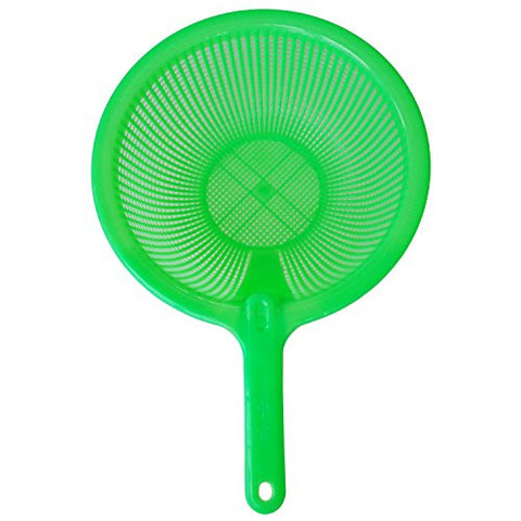 TOOGOO(R) Plastic Long Handle Rice Colander Strainer Filter Green