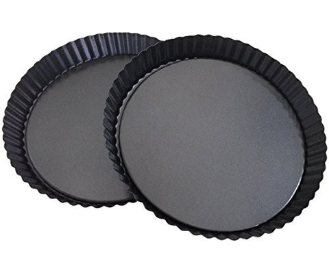 Non-Stick 8 Inches Removable Loose Bottom Quiche Pan, Tart Pie Pan, Round Tart Quiche Pan with Removable Base