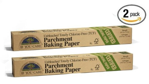 (Pack of 2) If You Care Silicone Coated Unbleached Parchment / Baking Paper 70-Foot Roll