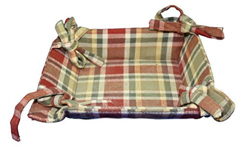 Park Designs Fabric Bread Basket 5x5 (Cajun)