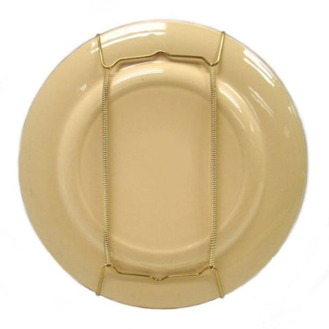 "Brass Hanging Plate Holder (For Plates Smaller Than 11"" Diameter)"