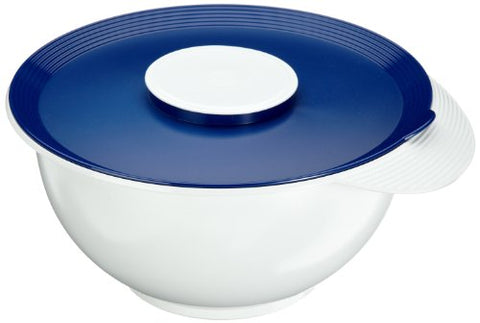 Emsa SUPERLINE 2154451200 Mixing Bowl with Lid 4.5 L White/ Blue