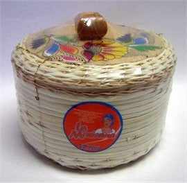 Painted Wicker Tortilla Warmer