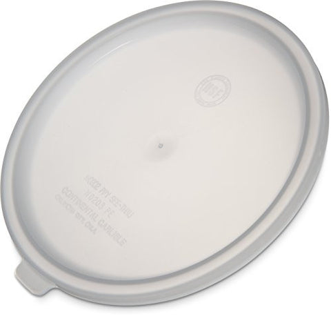 Carlisle 020302 Round Storage Container Lid (Fits 2 or 3.5 Quart Container), White
