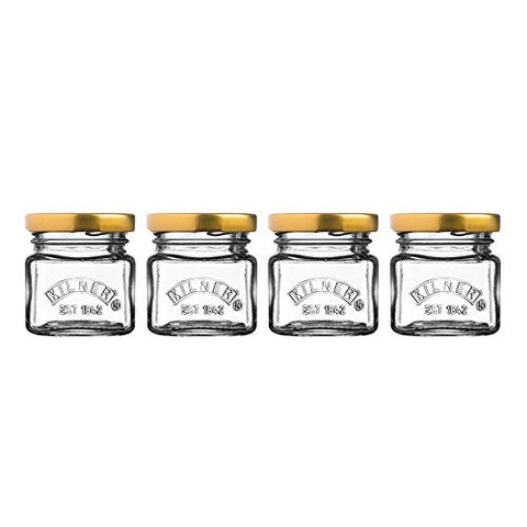 Kilner Set Of 4 Shot Jars With Lids