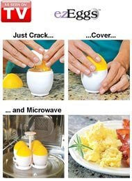 Ez Eggs Fast And Easy Microwave Egg Cooker - As Seen On Tv