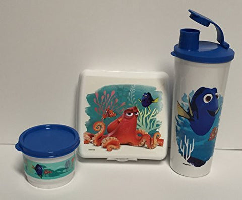 Tupperware Lunch Set Finding Dory Sandwich Keeper, Snack Cup, and Tumbler