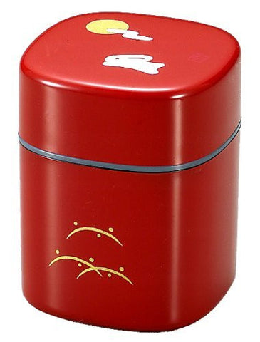 Rabbit Red ABS resin 3.1inch Japanese Tea Caddy