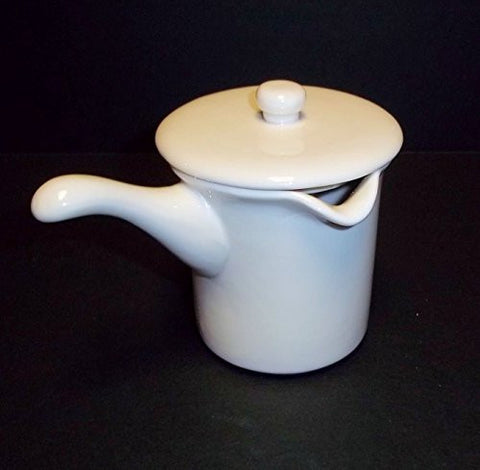 MICROWAVE CERAMIC BUTTER WARMER WITH POUR SPOUT AND LID