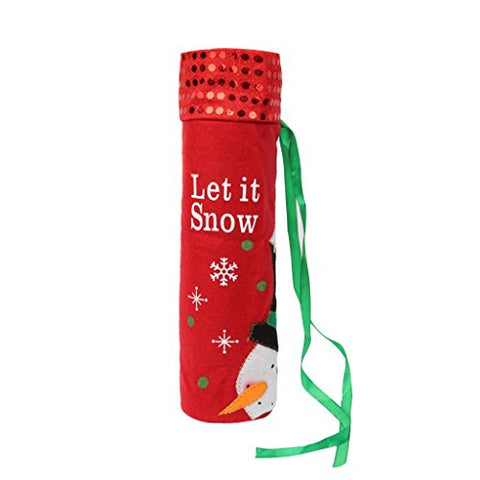 Gigor Christmas Wine Bottle Cover Bags, Santa/Snowman Xmas Gift Home Parties Decoration (Red)