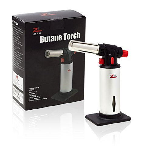 Professional Culinary Butane Torch - Quality for Home Chef's Kitchen - Guaranteed Precision Every time - Makes the Perfect Gift