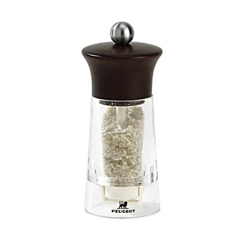 Peugeot 19730 Vendome 5.5 Inch Wet Salt Mill, Chocolate