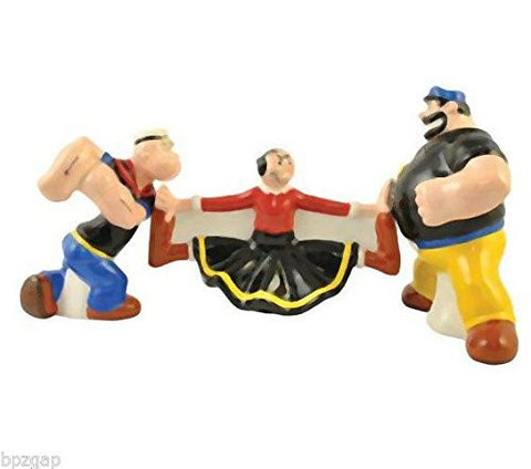 Westland Giftware Popeye Magnetic Olive Oyl in the Middle Salt and Pepper Shaker Set, 4-1/4-Inch