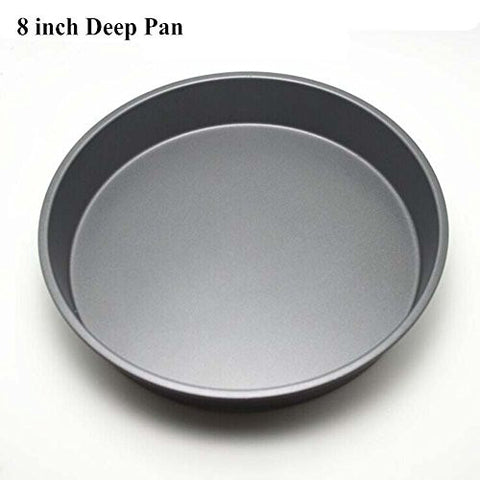 "Topseller Carbon Steel Round Dish Pizza Pan Non-stick Pizza Pie Tray Baking Kitchen Bakeware Tool (8"" ( 22CM3CM ), Deep)"