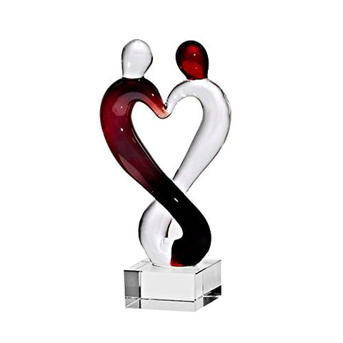 "Glass sculpture, sculpture love couple dream ""MOONLIGHT"" transparent, 9 cm, glass (ARTGLASS powered by CRISTALICA)"