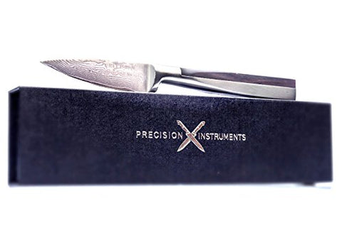 4 Inch Damascus Steel Paring Knife: A Professional Grade Paring Knife Made from Hardened Damascus Steel
