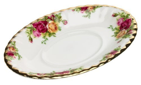 Royal Albert Old Country Roses Gravy Boat Stand by Royal Albert