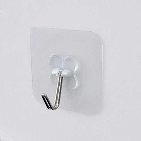 Wall Utility Adhesive Hooks,Heavy Duty Wall Hanger Stickers with Stainless Hooks- No Damage Wall Ceiling Decoration Hanging Coats Paintings Bags for Bathroom Kitchen Living Room(2PCS)