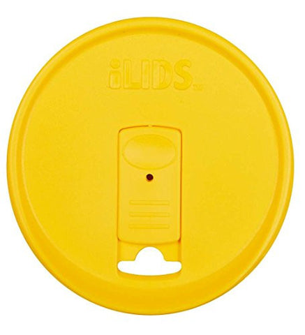 iLids Mason Straw Lid, Wide Mouth, in Yellow
