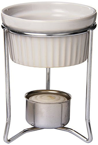 Browne (575767) 3 oz Chrome-Plated Butter Warmer w/Stoneware Pot