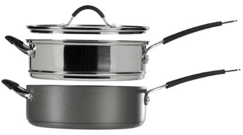 STAX Living  3-Piece Saute Ensemble, 5-Quart