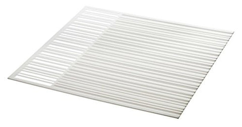 Silicone Drainer Drying Dish Mat in White - 13.5""