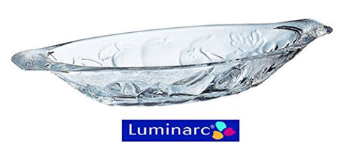 luminarc embossed banana split gourmande dish in glass set of 4