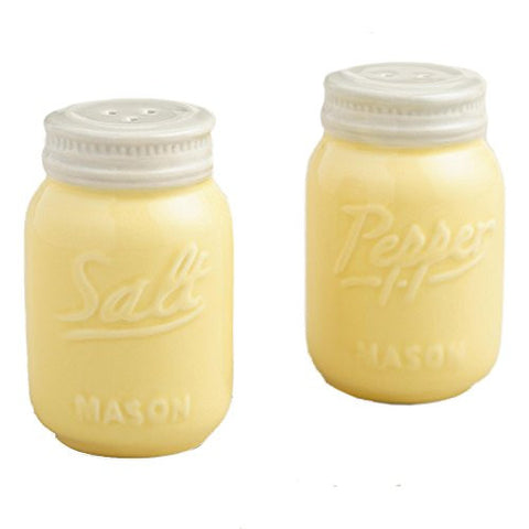 Yellow Ceramic Mason Jar Salt and Pepper Shaker by World Market