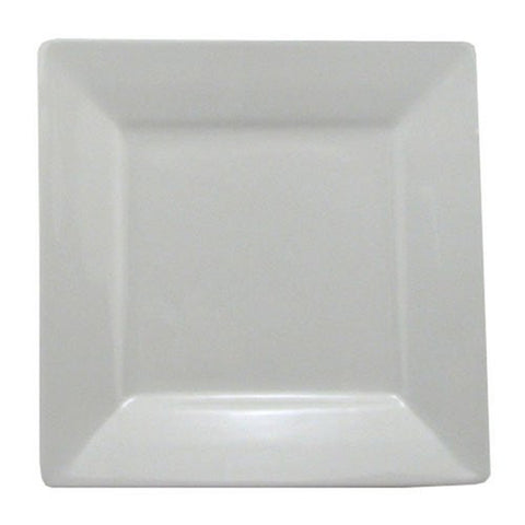 BIA Cordon Bleu Nouveau Square Rim Plates, Set of 2, White