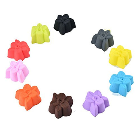 10 Pcs 3D Silicone Cake Decoration Pan Mold Baking Craft Mold DIY Cake Decorating Mould Random Color