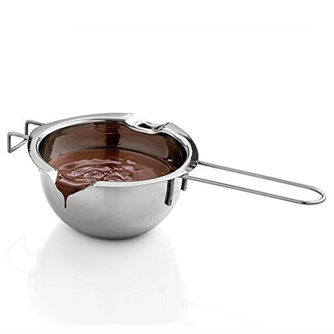 IBEET Super Double Boiler Pots Universal Insert Pan,18/8 Stainless Steel, 2 Cups Capacity, 2 Pour Spouts,Chocolate Melting Pots