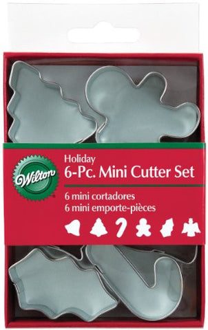 Mini Metal Cookie Cutters 6/Pkg-Holiday