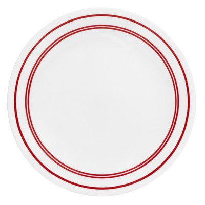 "Livingware Classic Café 8.5"" Dessert Plate [Set of 6] Color: Red"