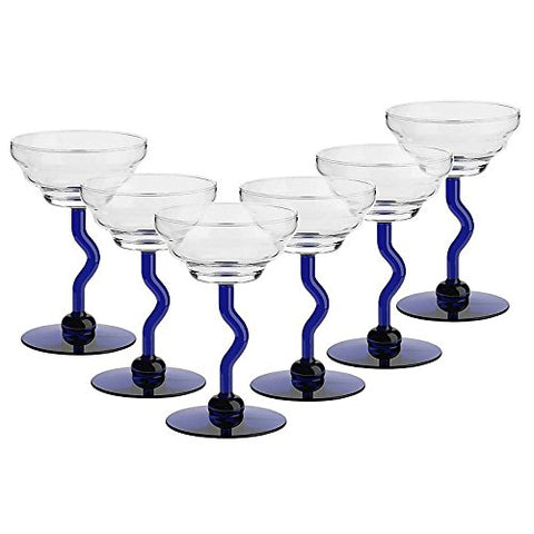 "Set of 6, Ice cream glass, Ice Cream Cup "" MOLISE"", blue (GELATO VERO powered by CRISTALICA )"