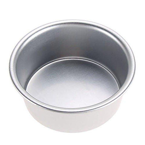 TTnight Round Cake Pan 4 / 6 / 8 inch Aluminum Alloy Non-stick Round Cake Baking Mould Pan (4 inch)