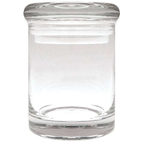 1 X Airtight 3 Inch Clear Glass Plain Stash Jar 90ml Medicine Container by Ez420