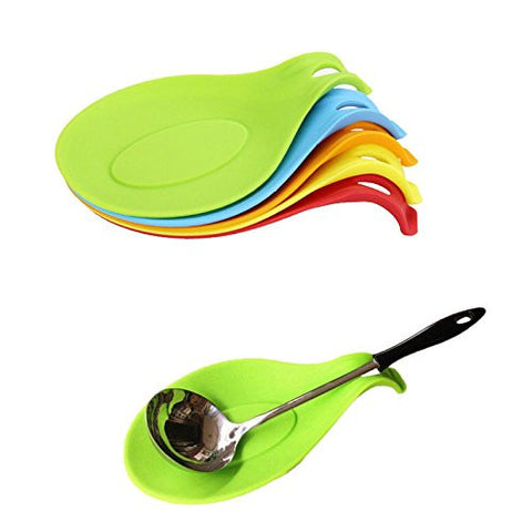 Zytho(TM) Attractive 1Pc Silicone Spoon Insulation Mat Placemat Drink Glass Coaster Tray #70976