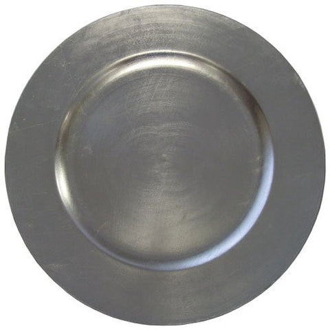 "American Merchandise Round Charger Plate, Silvr 13"" #85651"