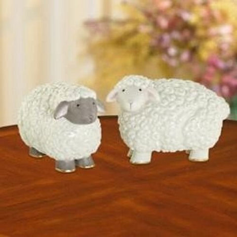 Lenox Sheep Salt and Pepper Shakers Set in Lenox Box