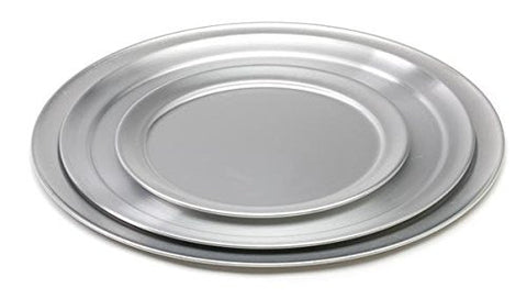 "Royal Industries ROY PT 6  6"" Wide-Ring Aluminum Pizza Tray"