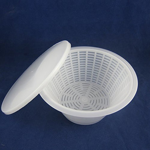Feta, Ricotta and Mozzarella Mold, Strainer and Lid #61004/#61007 (SKU 1026A)
