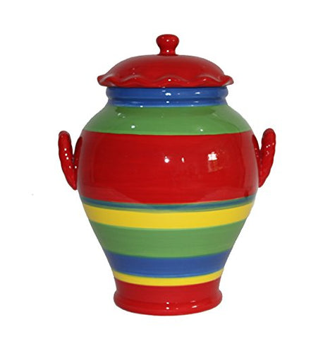 Tuscany Colorful Hand Painted Rainbow Cookie Jar, 81776 by ACK