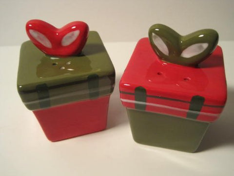 "Holiday Time, ""Gift Box"" Salt & Pepper Shakers, 3 Inches"