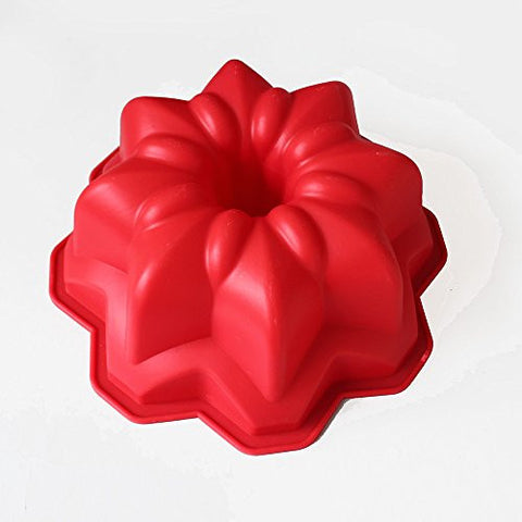 X-Haibei Vintage Star Bundt Cake Pan Chocolate Ice Cream Bakeware Silicone Mold 8.5inch