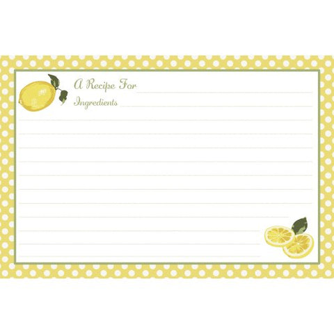 C.R. Gibson Jessie Steele 40 Count Recipe Cards, 4 by 6-Inch