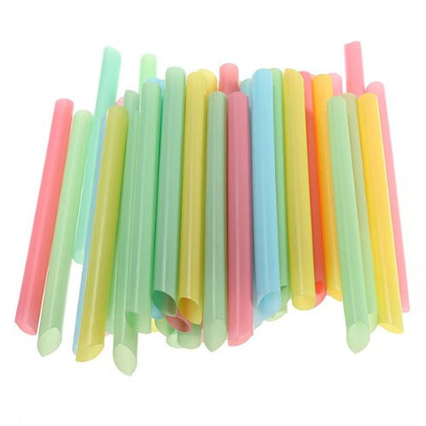 43-45 PCS Large 6 inch Drinking Straws Cola Milk Shakes Tea Cocktail