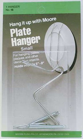 "Moore #19 Plate Hangers Zinc Plated Large, Holds 7"" to 11"""