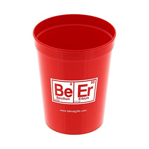 Lab Rat Gifts CUP002 Polypropylene BeEr 16oz Red Stadium Cup