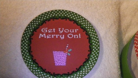 """Get Your Merry On"" Apetizer Plates"