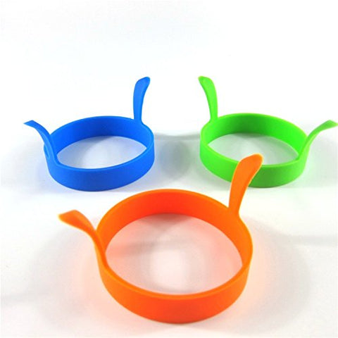 Liroyal 1 Pcs Kitchen Cooking Silicone Fried Oven Poacher Pancake Egg Poach Ring Mould
